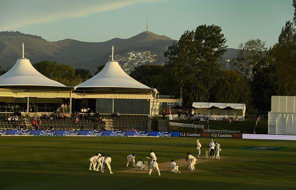 England posted all nine fielders around the bat on day five
