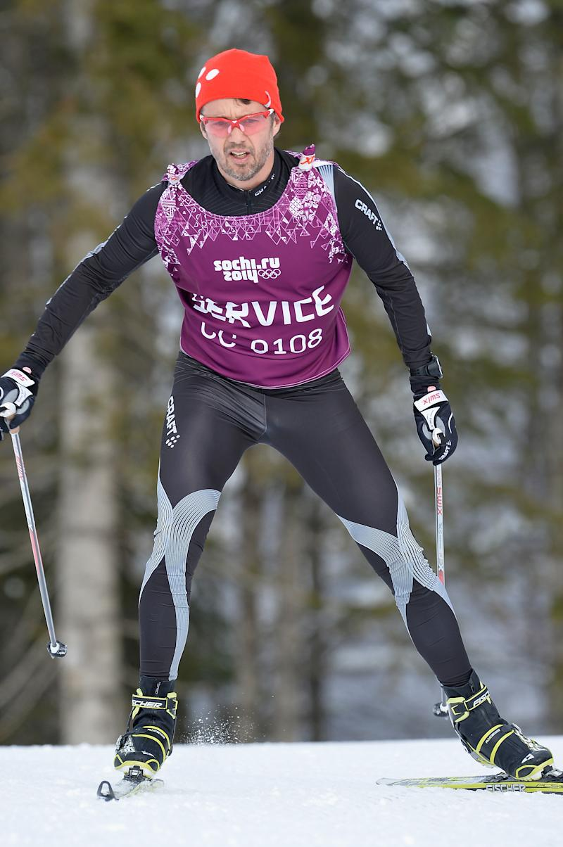 SOCHI, RUSSIA - FEBRUARY 20: Crown Prince Frederik of Denmark practices during day 13 of the 2014 Sochi Winter Olympics at Laura Cross-country Ski & Biathlon Center on February 20, 2014 in Sochi, Russia. (Photo by Pascal Le Segretain/Getty Images)