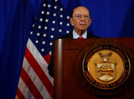 U.S. Commerce Secretary Wilbur Ross holds a news conference at the Department of Commerce in Washington
