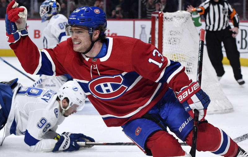 Montreal Canadiens centre Max Domi still looks up to Pittsburgh Penguins star Sidney Crosby. (Eric Bolte-USA TODAY Sports)
