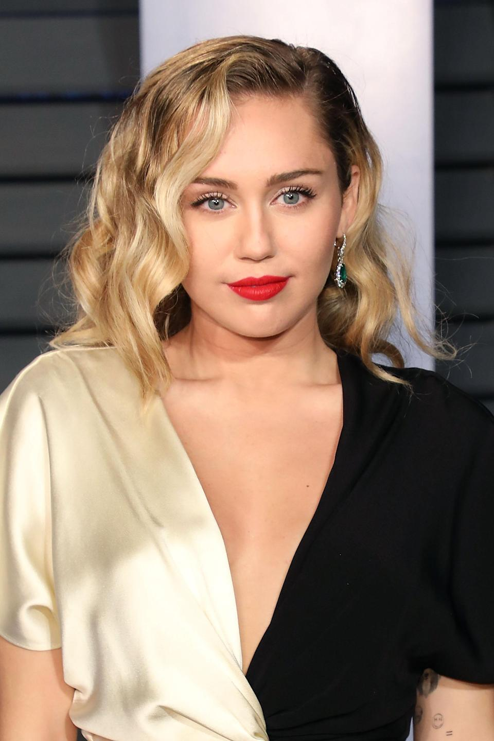 Singer Miley Cyrus has also identified as pansexual [Photo: Getty]