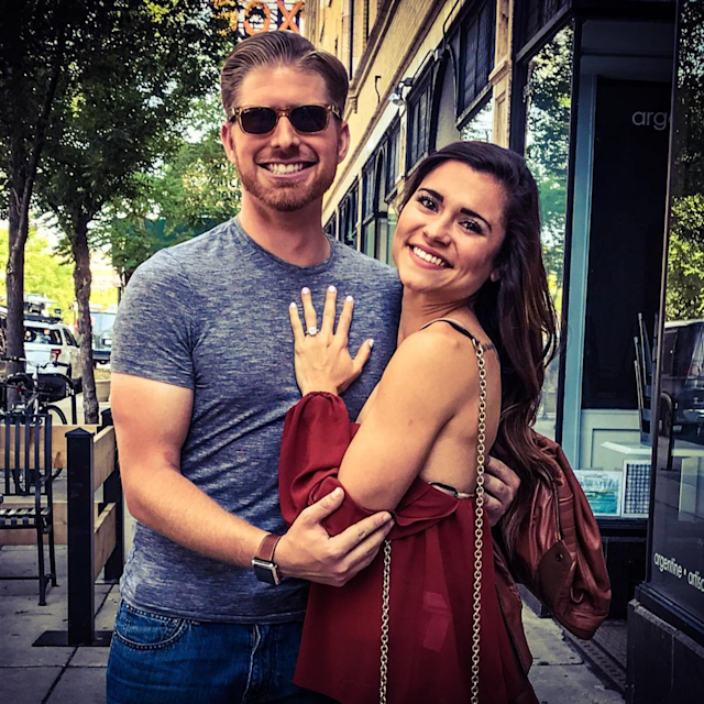 Jake Hamilton created a fake movie trailer to propose to his girlfriend, Lauren Deschenes. (Photo: Instagram)