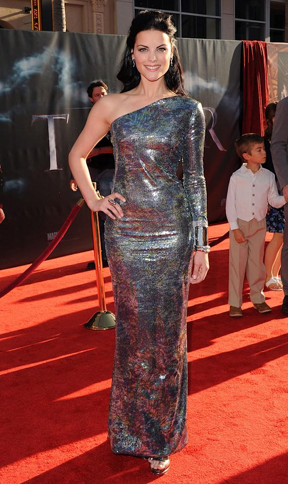 """<a href=""""http://movies.yahoo.com/movie/contributor/1809669724"""">Jaimie Alexander</a> attends the Los Angeles premiere of <a href=""""http://movies.yahoo.com/movie/1810026342/info"""">Thor</a> on May 2, 2011."""
