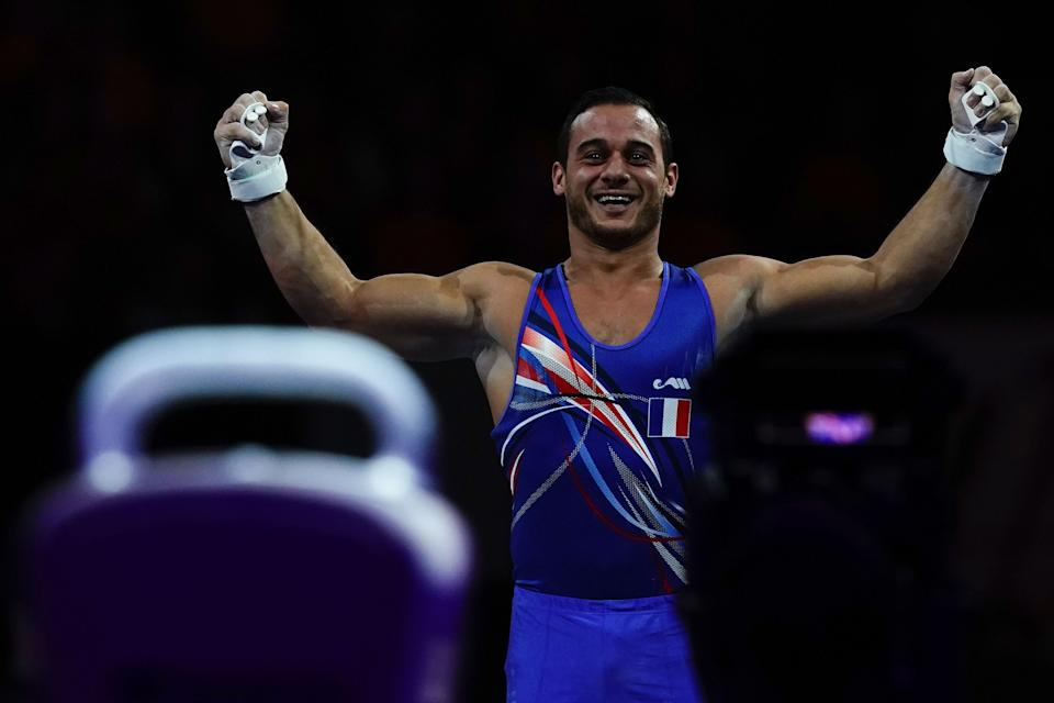 Samir Ait Said will serve as one of France's flag bearers at Friday's Opening Ceremony five years after suffering a gruesome injury while competing in Rio. (Photo by LIONEL BONAVENTURE/AFP via Getty Images)