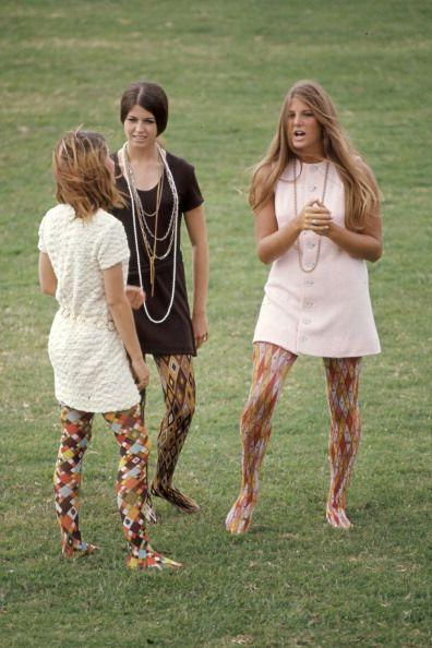 <p>The mini dresses and long, layered necklaces are cute, but the jury is still out on the patterned tights.</p>