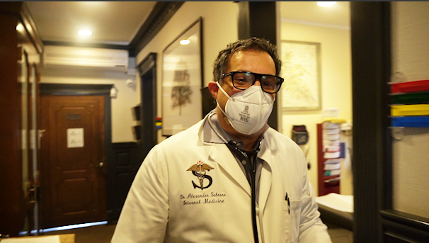 Dr. Alexander Salerno turned to the black market for PPE. Still, he's left without a stockpile of necessary supplies. (Courtesy of Alexander Salerno)
