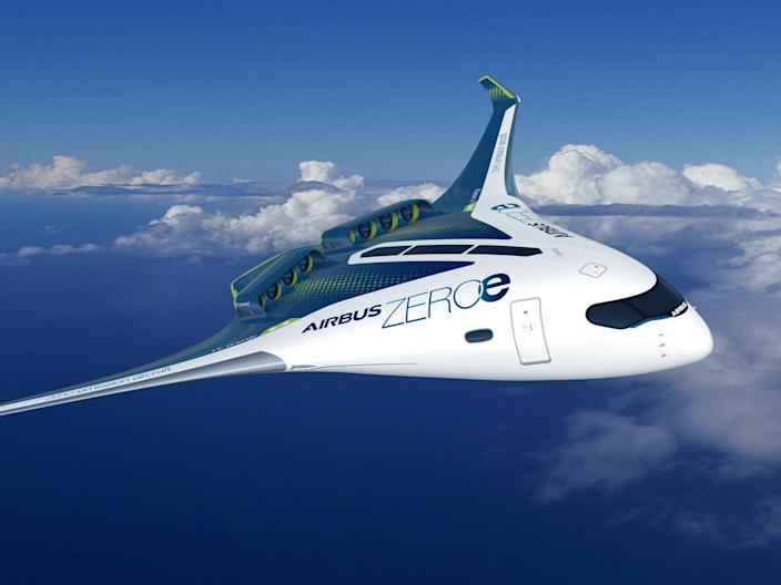 Airbus ZEROe Blended Wing Body Concept Hydrogen