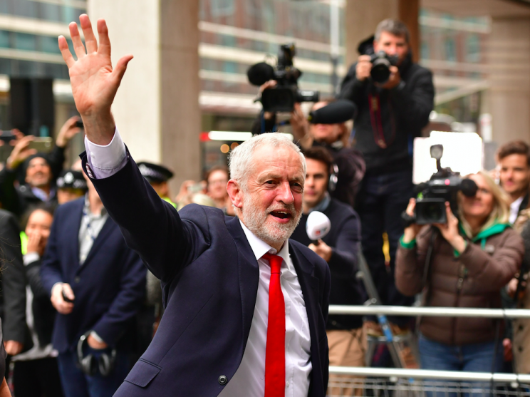 Man-of-the-moment Jeremy Corbyn has called for Mrs May to step aside as prime minister (Picture: PA)