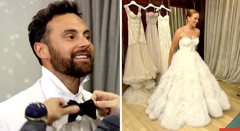 MAFS' Cam and Jules on wedding day