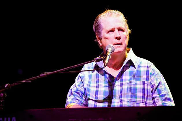 """""""Is it C or B?"""" band leader Brian Wilson asks. (Photo courtesy of Lushington)"""