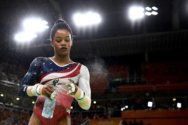 Gabby Douglas was relegated to a supporting role in Rio. (Getty Images)