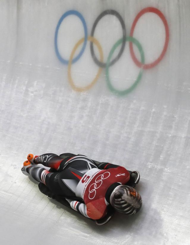 Skeleton - Pyeongchang 2018 Winter Olympics – Women's Finals - Olympic Sliding Center - Pyeongchang, South Korea – February 17, 2018 - Jane Channell of Canada in action. REUTERS/Arnd Wiegmann