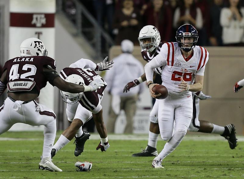 Shea Patterson's first start for Ole Miss was a win. (Getty)