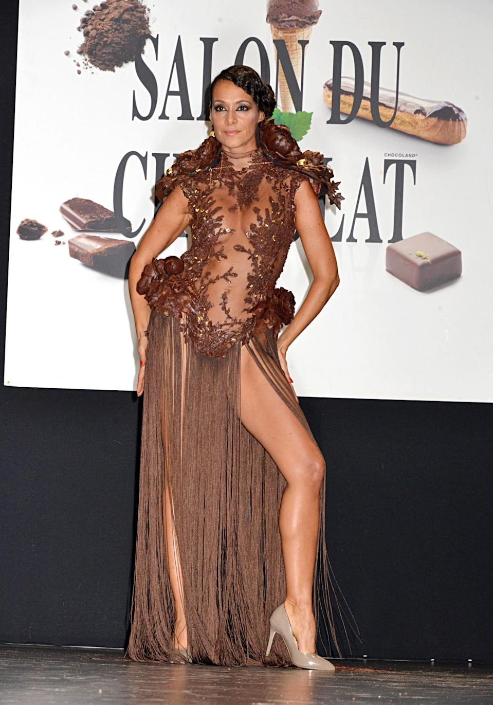 <p>Jennifer Lopez, Kim Kardashian, and Beyoncé will all be fighting one another over this edible naked dress crafted by Damien Piscioneri for Café Pouchkine.</p>