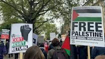 Thousands of people in cities around the world attend pro-Palestinian rallies