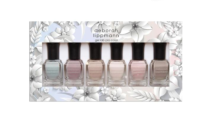 """<p>While you're on your self care kick, give yourself a mani-pedi with the Deborah Lippmann Love Wins nail set. You know you need one after avoiding salons for the past few months. Plus, these neutral Deborah Lipman colors last long and are great for year-round. </p> <p><strong>Buy It! </strong>Love Wins Six-Piece Set, $36; <a href=""""https://deborahlippmann.com/collections/sets/products/love-wins?variant=34988241453194"""" rel=""""sponsored noopener"""" target=""""_blank"""" data-ylk=""""slk:deborahlippmann.com"""" class=""""link rapid-noclick-resp"""">deborahlippmann.com</a></p>"""