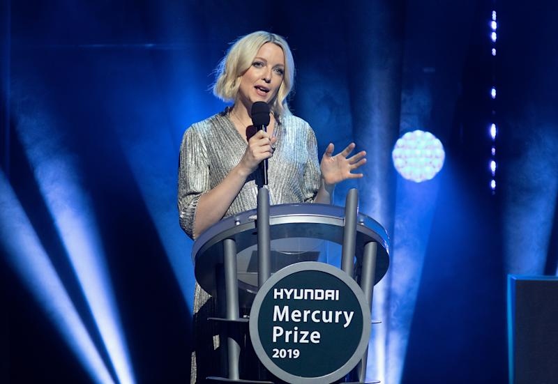 LONDON, ENGLAND - SEPTEMBER 19: (EDITORIAL USE ONLY) Lauren Laverne hosts the Hyundai Mercury Prize: Albums of the Year at Eventim Apollo, Hammersmith on September 19, 2019 in London, England. (Photo by Jo Hale/Redferns)