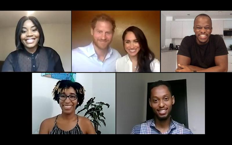 The Duke and Duchess of Sussex join the QCT via videolink - QCT