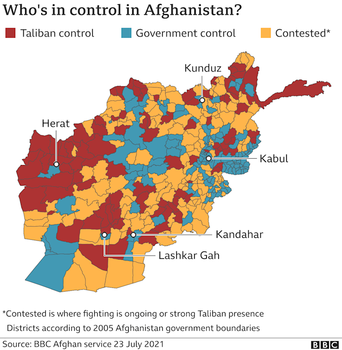 Afghanistan control map
