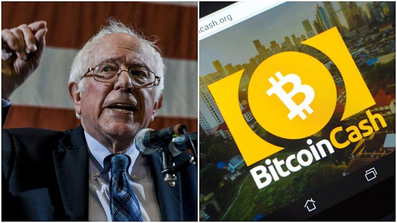When a Bernie Sanders supporter stumbled across some hidden Bitcoin Cash (BCH), it almost got redistributed immediately when they selfied the QR code. | Source: Shutterstock. Image Edited by CCN.