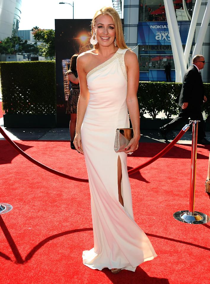Cat Deeley arrives at the 2013 Primetime Creative Arts Emmy Awards, on Sunday, September 15, 2013 at Nokia Theatre L.A. Live, in Los Angeles, Calif. (Photo by Scott Kirkland/Invision for Academy of Television Arts & Sciences/AP Images)