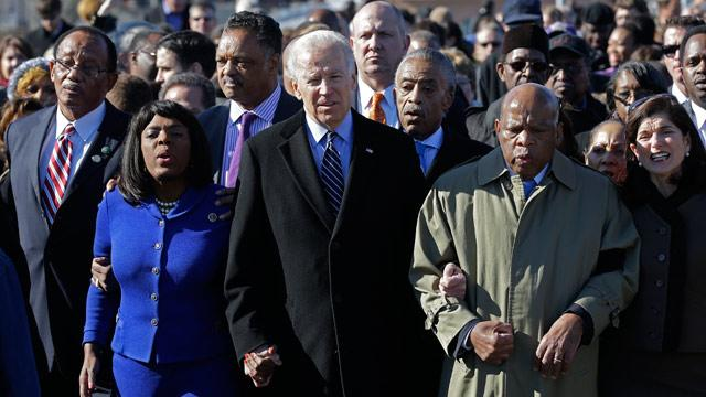 Biden Defends Voting Rights Act Provision in Selma, Alabama