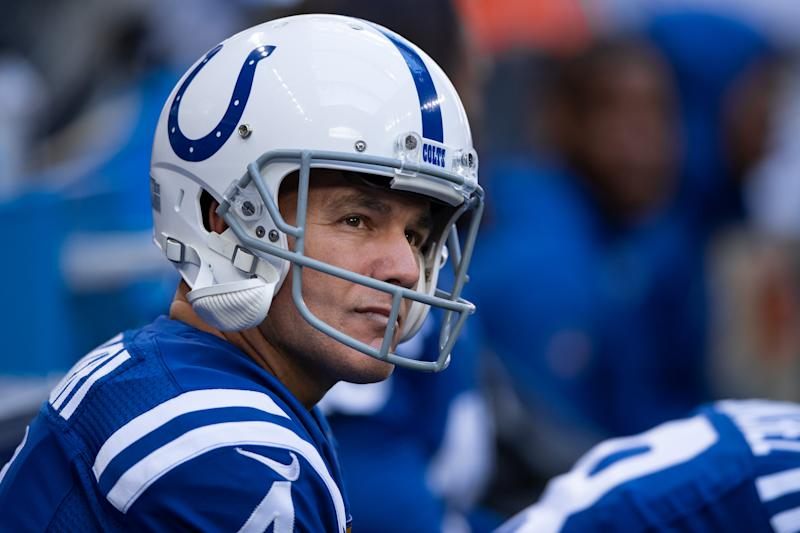 The Colts would certainly prefer that Adam Vinatieri leave football on his own terms, but his struggles are forcing them to consider their options. (Zach Bolinger/Icon Sportswire via Getty Images)