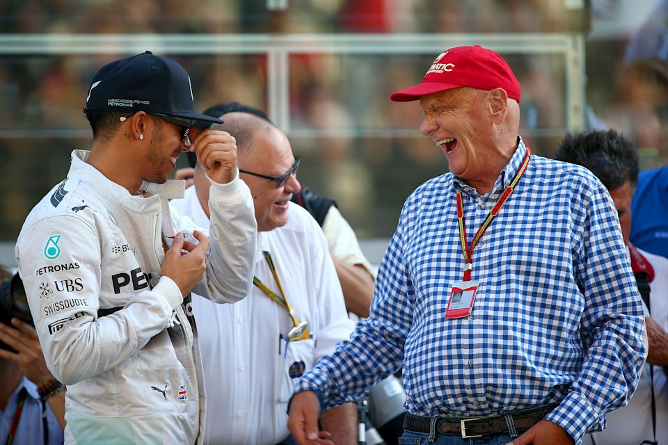 Lauda was key to persuading Lewis Hamilton to join Mercedes. (Credit: Getty Images)