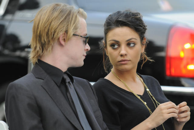 Kunis and Culkin's split was announced in early 2011. (Photo: Harrison Funk/The Jackson Family via Getty Images)