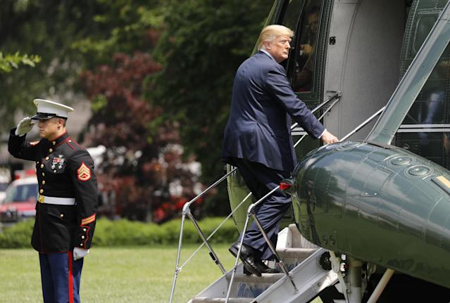 President Trump took a family vacation with his children, sparking concern over Melania's whereabouts. (Photo: Getty Images)
