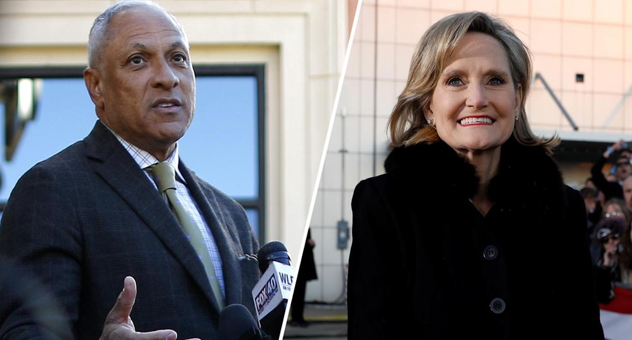 Mike Espy, Cindy Hyde-Smith (Photos: Jonathan Bachman/Reuters, Kevin Lamarque/Reuters)