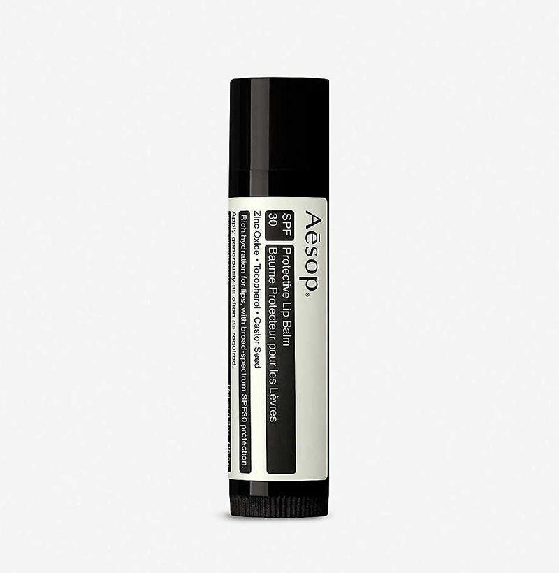"<p><strong>AESOP</strong></p><p>selfridges.com.us</p><p><strong>$15.50</strong></p><p><a href=""https://go.redirectingat.com?id=74968X1596630&url=https%3A%2F%2Fwww.selfridges.com%2FUS%2Fen%2Fcat%2Faesop-protective-lip-balm-spf-30_333-3002233-ASK47&sref=https%3A%2F%2Fwww.esquire.com%2Fstyle%2Fgrooming%2Fg35153672%2Fbest-lip-balm-for-men%2F"" rel=""nofollow noopener"" target=""_blank"" data-ylk=""slk:Shop Now"" class=""link rapid-noclick-resp"">Shop Now</a></p>"