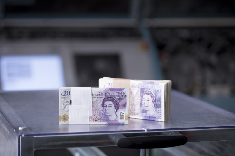 The old notes will be returned to one of the UK's Note Circulation Scheme businesses, which will destroy them. (Jason Alden/G4S)
