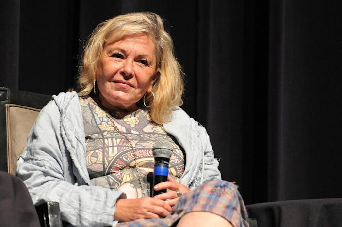 """BEVERLY HILLS, CA - SEPTEMBER 17: Roseanne Barr participates in """"Is America a Forgiving Nation?,'' a Yom Kippur eve talk on forgiveness hosted by the World Values Network and the Jewish Journal at Saban Theatre on September 17, 2018 in Beverly Hills, California. (Photo by Rachel Luna/Getty Images)"""