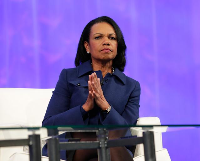 Former United States Secretary of State Condoleezza Rice surfaced as a rumored candidate to coach the NFL's Cleveland Browns, but all sides denied the report. (Getty Images)