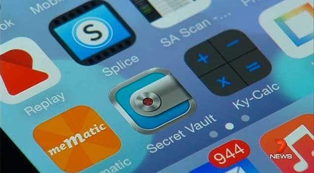 A disturbing new mobile app is making it easier for teenagers to hide and store nude photos. Photo: 7 News