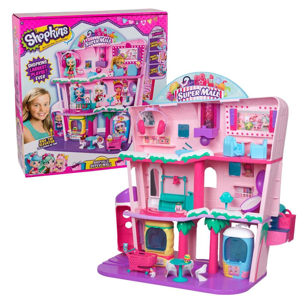 Shopkins Shoppies Shopville Super Mall Playset - on sale at Walmart.
