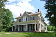 <p>The world-renowned abolitionist, author, and speaker was born into slavery in 1818 and escaped against the odds. He spent his final 17 years of life at Cedar Hill, shown here, which has been restored to its original appearance and features the original decor and furnishings Douglass kept before his death. Visitors can tour the house and grounds, enjoy several exhibits, and watch a film about Douglass's life and legacy that still impacts us today. </p>