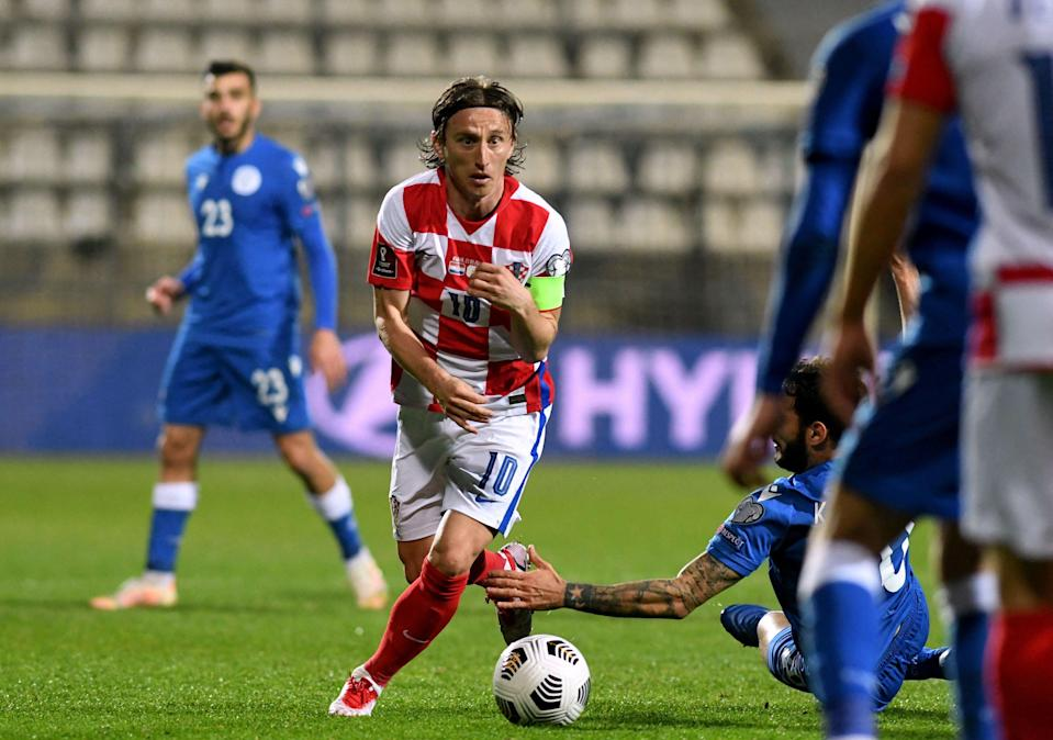 Luka Modric is Croatia's record appearance holder and will captain the side at another major tournament  (AFP via Getty Images)