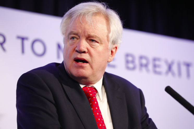 David Davis is currently the main person leading Brexit negotiations (Rex)
