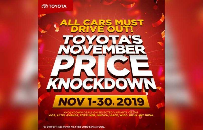 Drive your dream car with Toyota's 'November Price Knockdown' promo