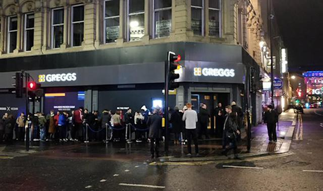 People queued around the block at a launch event in Newcastle last night [Image: PA]