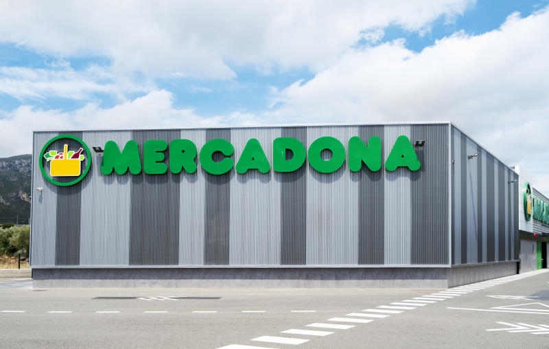 Hospitalet Del Infant, Spain - June 9, 2018: A view of a Mercadona supermarket in Hospitalet del Infant, Spain. Mercadona is a popular Spanish supermarket chain with more than 1500 locations in Spain
