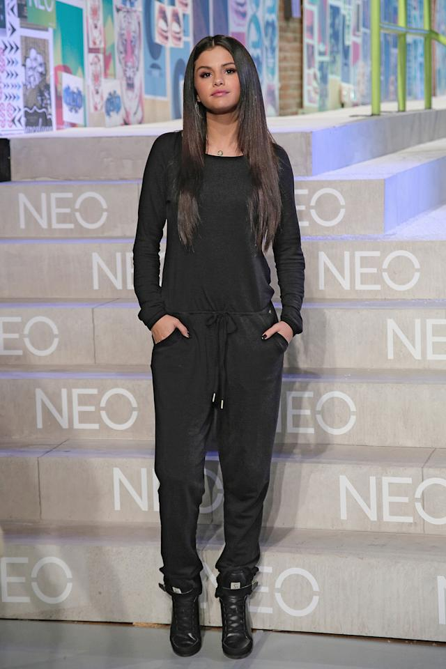<p>At the Adidas Neo during Mercedes-Benz Fashion Week Spring 2015. </p>