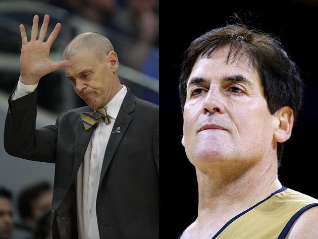 Rick Carlisle lets Mark Cuban stay in the game. (Getty Images)