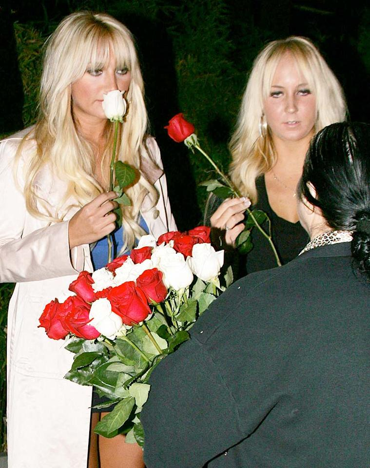 "Brooke Hogan and a gal pal buy themselves roses after enjoying a sushi dinner at Koi in West Hollywood. MVP/<a href=""http://www.x17online.com"" target=""new"">X17 Online</a> - August 18, 2009"