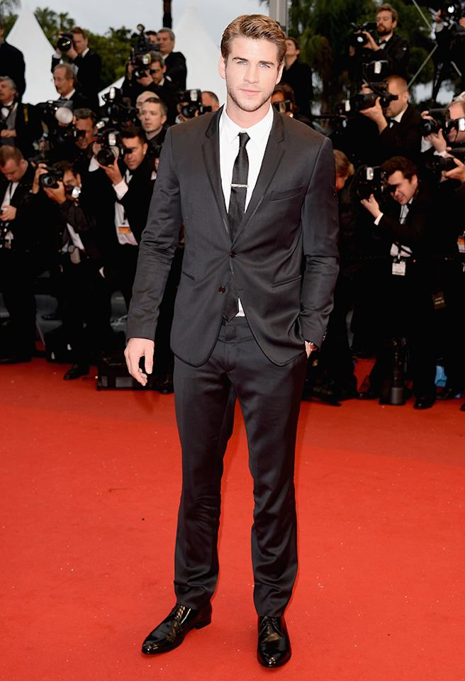 CANNES, FRANCE - MAY 18:  Liam Hemsworth attends the Premiere of 'Jimmy P. (Psychotherapy Of A Plains Indian)' at Palais des Festivals during The 66th Annual Cannes Film Festival on May 18, 2013 in Cannes, France.  (Photo by Venturelli/WireImage)