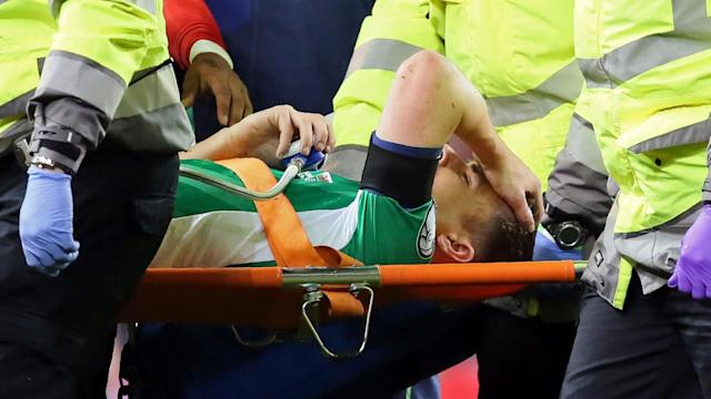 The Armenian has wished the Republic of Ireland full-back a speedy recovery after the terrible injury he picked up while on international duty