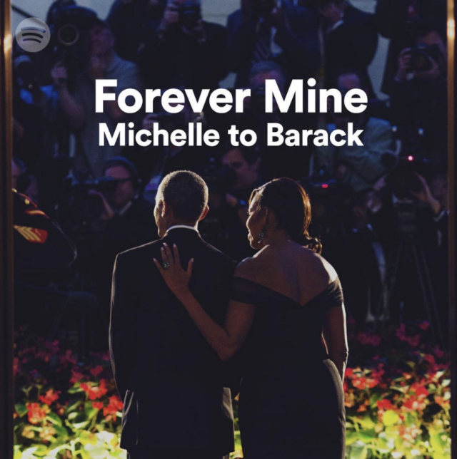 "<p>Meanwhile, the former FLOTUS had her own surprise for her beloved. ""Happy #ValentinesDay to my one and only, @BarackObama,"" she captioned this shot. ""To celebrate the occasion, I'm dedicating a little Valentine's Day playlist to you! Click the link in my bio to hear the playlist"" (Photo: <a href=""https://www.instagram.com/p/BfLv2n0AOnD/?taken-by=michelleobama"" rel=""nofollow noopener"" target=""_blank"" data-ylk=""slk:Michelle Obama via Instagram"" class=""link rapid-noclick-resp"">Michelle Obama via Instagram</a>) </p>"