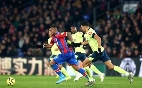 <span>Jordan Ayew was man of the match, spearheading Palace's second-half fightback </span> <span>Credit: GETTY IMAGES </span>